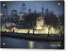 London Skyline Acrylic Print by Julie Woodhouse