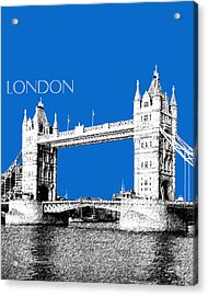 London Skyline Tower Bridge - Blue Acrylic Print by DB Artist