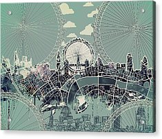 London Skyline Vintage Acrylic Print