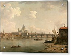 London, St. Pauls And Blackfriars Bridge Signed Acrylic Print by Litz Collection
