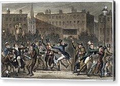 London Street Brawl, 1821 Acrylic Print by Granger