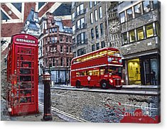 London Street Creation Acrylic Print by Delphimages Photo Creations