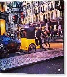 #london #street  #streetphoto #cars Acrylic Print by Abdelrahman Alawwad