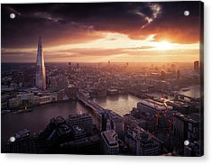 London Sunset View Acrylic Print by Dennis Fischer Photography