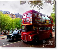 London Taxi And Bus Acrylic Print