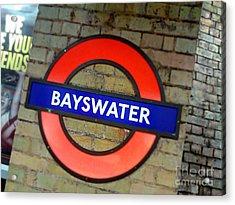 London Tube Acrylic Print
