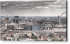 London Under Grey Skies Acrylic Print by Rona Black