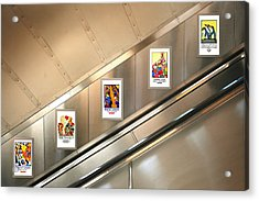 London Underground Poster Collection Acrylic Print by Mark Rogan