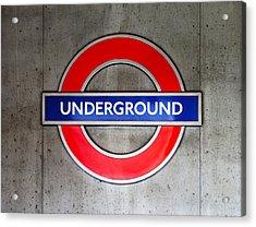 London Underground Sign Acrylic Print