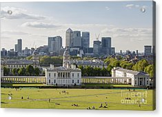 London View From Greenwich Acrylic Print by Roberto Morgenthaler