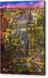 London, Westminster Pen & Ink With Wc On Paper Acrylic Print