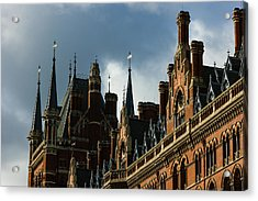 London's Eurostar Train Station St Pancras - A Remarkable Victorian Gothic Revival Building Acrylic Print