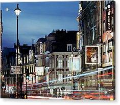 Londons Shaftesbury Avenue At Dusk Acrylic Print by Shomos Uddin