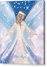 Lone Angel Acrylic Print by Sherri's Of Palm Springs