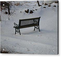 Lone Bench Acrylic Print by Jenna Mengersen