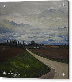 Lone Country Road Acrylic Print by Monica Veraguth