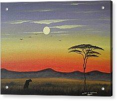 Lone Hunter Acrylic Print