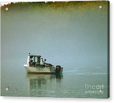 Acrylic Print featuring the photograph Lone Lobsterman by Christopher Mace
