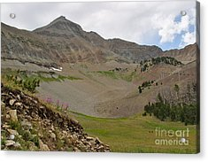 Acrylic Print featuring the photograph Lone Mountain Summit by Charles Kozierok