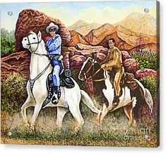 Lone Ranger And Tonto Ride Again Acrylic Print