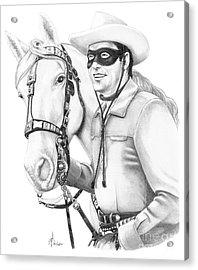 Lone Ranger Acrylic Print by Murphy Elliott