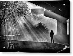 Lone Skater Acrylic Print by Scott Wyatt