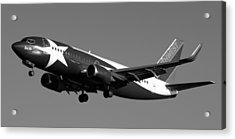 Lone Star Southwest Plane Acrylic Print by Daniel Woodrum