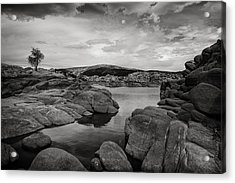 Lone Tree And Watson Lake Acrylic Print by Jesse Castellano