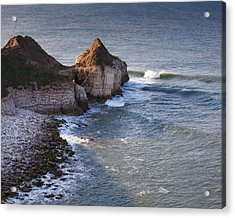 Lone Wave Breaking Acrylic Print