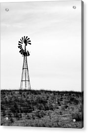 Acrylic Print featuring the photograph Lone Windmill by Cathy Anderson