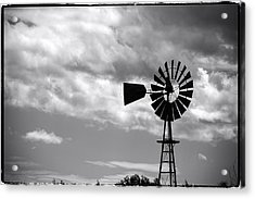 Lone Windmill On The Prairie Acrylic Print by John McArthur