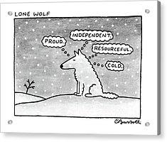 Lone Wolf: Acrylic Print