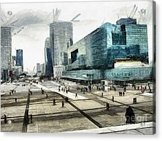 Loneliness And Business In Paris Acrylic Print by Daliana Pacuraru