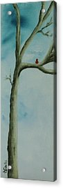 Acrylic Print featuring the painting Loneliness by Annamarie Sidella-Felts