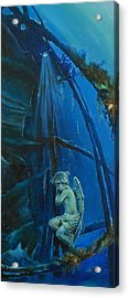 Lonely Angel Of The Deep Acrylic Print by Ottilia Zakany