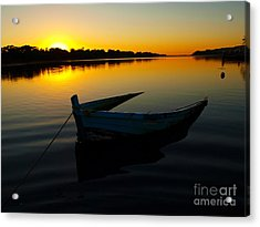 Acrylic Print featuring the photograph Lonely At Sunrise by Trena Mara