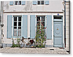 Acrylic Print featuring the photograph Lonely Bicycle... by Cendrine Marrouat