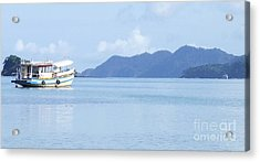 Lonely Boat Acrylic Print by Andrea Anderegg