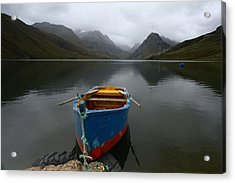 Lonely Boat Acrylic Print by Dan Breckwoldt