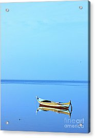 Acrylic Print featuring the photograph Lonely Boat by Mohamed Elkhamisy