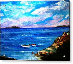 Lonely Boats Acrylic Print