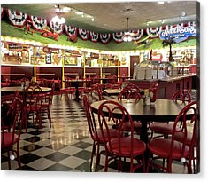 Lonely Cafe Acrylic Print by Thomas Woolworth