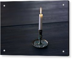 Lonely Candle Acrylic Print