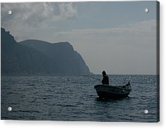 Lonely Fisherman Acrylic Print