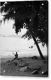 Lonely Guitarist Acrylic Print by Kaleidoscopik Photography