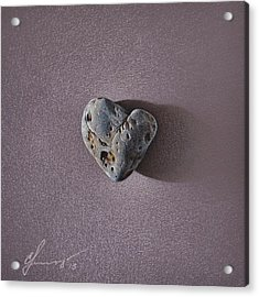 Lonely Heart Acrylic Print by Elena Kolotusha