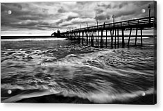 Acrylic Print featuring the photograph Lonely Man On The Pier by Ryan Weddle