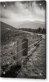 Lonely Mountain Road Acrylic Print by Edward Fielding