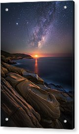 Lonely Planet Acrylic Print by Tim Fan