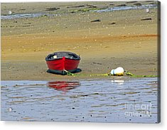 Lonely Red Boat Acrylic Print